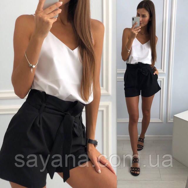 женские шорты и отдельно топ