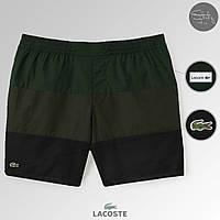 Летние шорты Lacoste | пляжные мужские черные | топ реплика