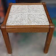 Кофейный столик из натурального дерева и керамогранита /Голландия