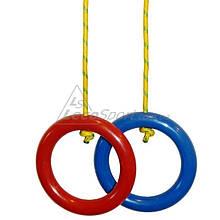 Кольца гимнастические красно-синие (пара)