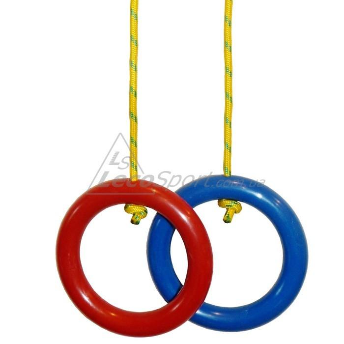 Кольца гимнастические красно-синие (пара) - LecoSport - интернет-магазин производителя спортивных тренажеров в Харькове