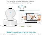 Поворотная Wi Fi IP-камера видеонаблюдения,ночная съемка,видеоняня, фото 3