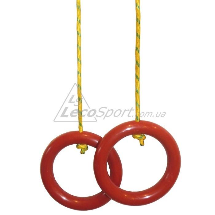 Кольца гимнастические красные (пара) - LecoSport - интернет-магазин производителя спортивных тренажеров в Харькове