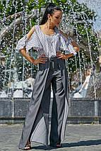 Женская полосатая блузка с разрезами на плечах (3557 svt), фото 3