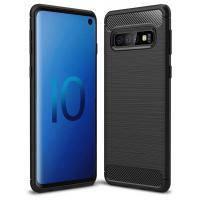 Чехол для моб. телефона Laudtec для SAMSUNG Galaxy S10 Carbon Fiber (Black) (LT-GS10B)