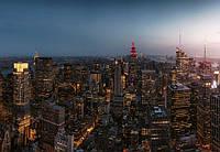 Фотообои 3D 368х254 см (флизелин, бумага) Вечерний город Нью-Йорк (5059WG)