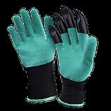 Садовые перчатки Garden Genie Gloves с когтями для сада, огорода Garden Gloves, фото 3