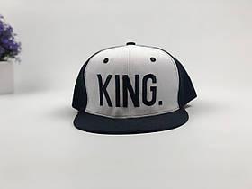 Кепка снэпбек King (черно-белая)