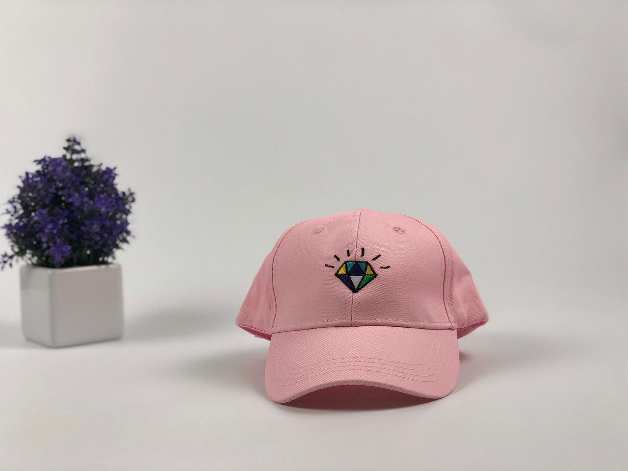 Кепка бейсболка Diamond (розовая)