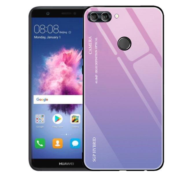 Чехол бампер Primo Gradient Glass для Huawei P Smart 2018 - Pink