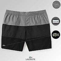 Lacoste мужские плавки шорты | летние серые, | топ реплика | бирки | нашивка