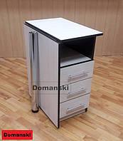 Маникюрный стол с ящиками. Столешница прямая. Цвет дуб молочный + венге