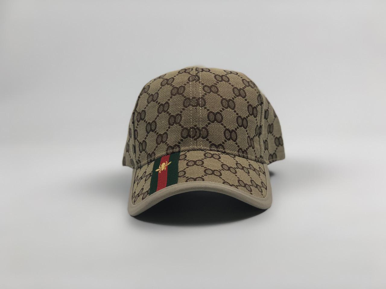 Кепка бейсболка Gucci (бежевая)