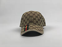 Кепка бейсболка Gucci (бежевая), фото 1