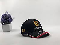 Кепка бейсболка Авто Ferrari (черная), фото 1