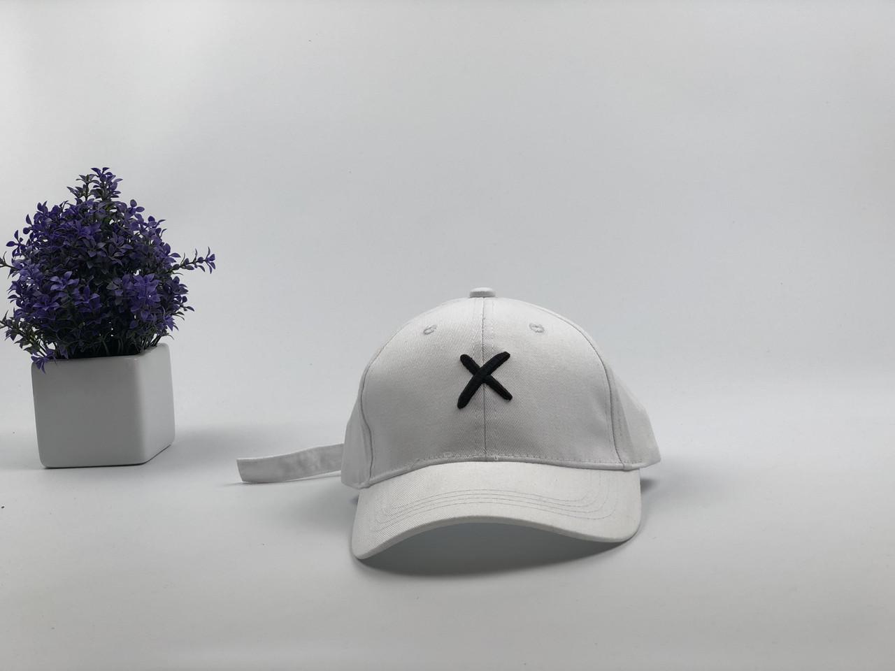 Кепка бейсболка Xotic X (белая)
