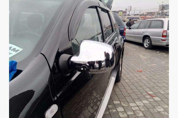 Накладки на зеркала (2 шт) Renault Sandero 2007-2013 гг.