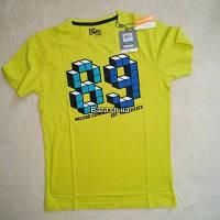 Футболка для хлопчика 134 см (8-9 years) жовтий цифри 89 Ovs 44637