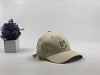 Кепка бейсболка Dog хаски (светло-бежевая), фото 1