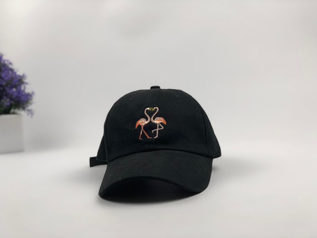Кепка бейсболка Flamingo (черная)