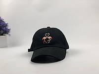 Кепка бейсболка Flamingo (черная), фото 1