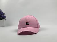 Кепка бейсболка Fila маленький лого (розовая), фото 1