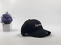 Кепка бейсболка Supreme Пропись (черная), фото 1