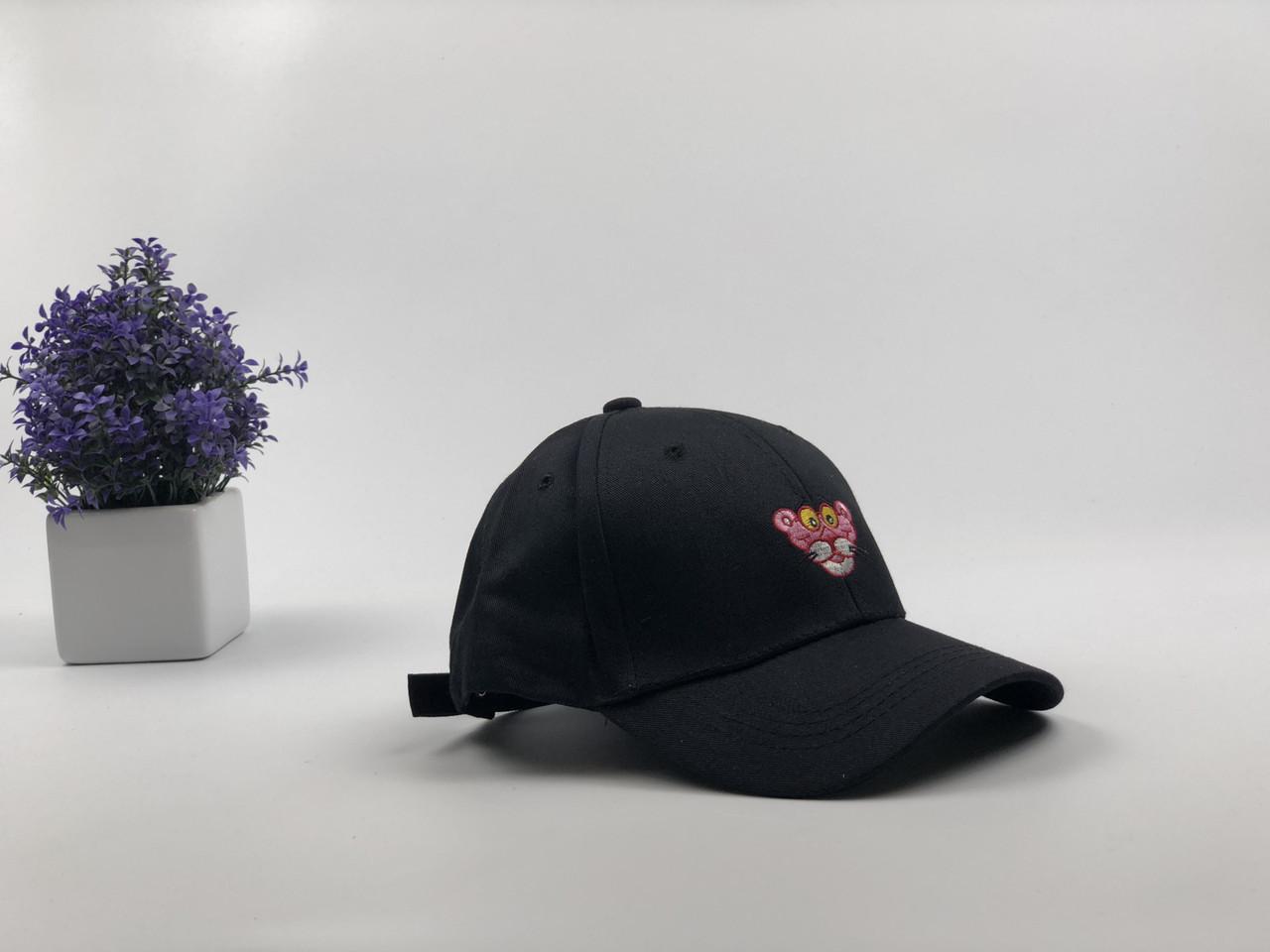 Кепка бейсболка Розовая Пантера (черная)