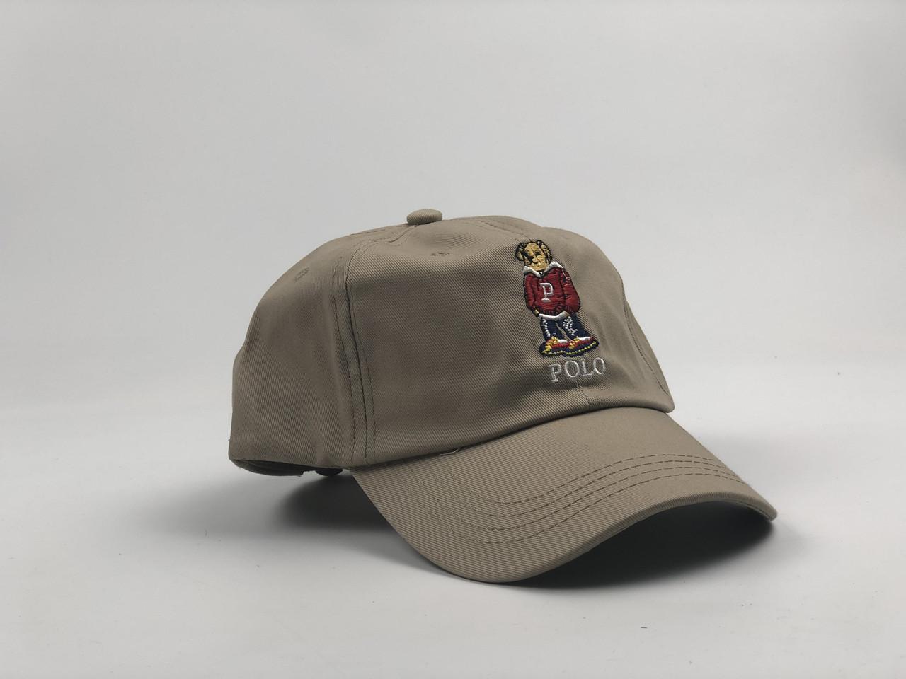 Кепка бейсболка Polo Ralph Lauren Bear (бежевая)