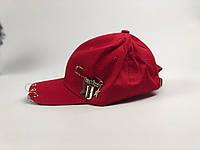 Кепка бейсболка Корея с кольцами, булавой и лезвием (красная), фото 1