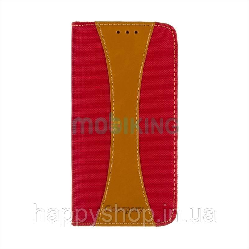 Чехол-книжка Goospery Canvas для Xiaomi Redmi 6 Pro (Красный)