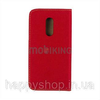 Чехол-книжка Goospery Canvas для Xiaomi Redmi 6 Pro (Красный), фото 2