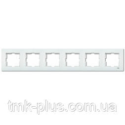 Рамка 6-а горизонтальна Viko Karre білий