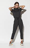 Черный женский брючный комбинезон, фото 1