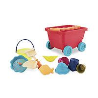 Детский набор для игры с песком и водой ТЕЛЕЖКА МАНГО Battat BX1594Z
