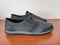 Туфлі чоловічі літні сірі сітка ( код 918 ), фото 1