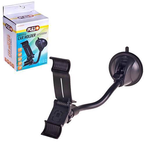 Держатель мобильного телефона PULSO UH-2055BK (до 110мм) на гибкой ножке