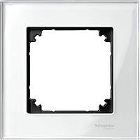 M-Elegance стекло рамка 1 п., белый бриллиант