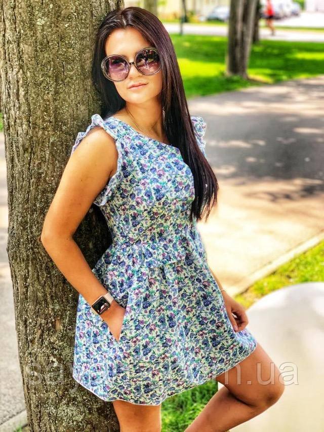 молодежное летнее платье