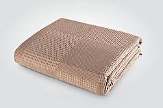 Простынь вафельная 220х240 см ТМ Идея коричневая