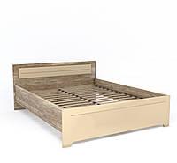 Двоспальне ліжко W 160х200 у вітальню Mulatto Дуб Каньйон / Сахара Глянець Blonski
