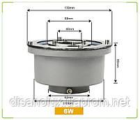 Світильник підводний для підсвічування фонтану FG-01 6W RGB LED 12V розмір 130мм * 80мм IP68, фото 3
