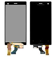 Дисплей для Sony LT26w Xperia Acro S + touchscreen, чёрный, с передней панелью оригинал (Китай)