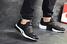 Мужские кроссовки Nike air presto,текстиль,черно-белые, фото 2