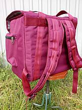 Термосумка - рюкзак Dolphin средних размеров для курьерской доставки еды, обедов, напитков.  На липучках.