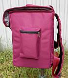 Термосумка - рюкзак Dolphin середніх розмірів для кур'єрської доставки їжі, обідів, напоїв. На липучках., фото 3