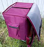 Термосумка - рюкзак Dolphin середніх розмірів для кур'єрської доставки їжі, обідів, напоїв. На липучках., фото 4