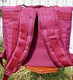 Термосумка - рюкзак Dolphin середніх розмірів для кур'єрської доставки їжі, обідів, напоїв. На липучках., фото 6