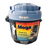 Термос пищевой Mega на 2,6 л  (контейнер-термос для еды с судками и приборами)