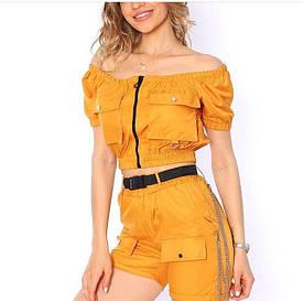 Женский летний костюм шортами, с карманами. Размер СМЛ. Турция, отличное качество